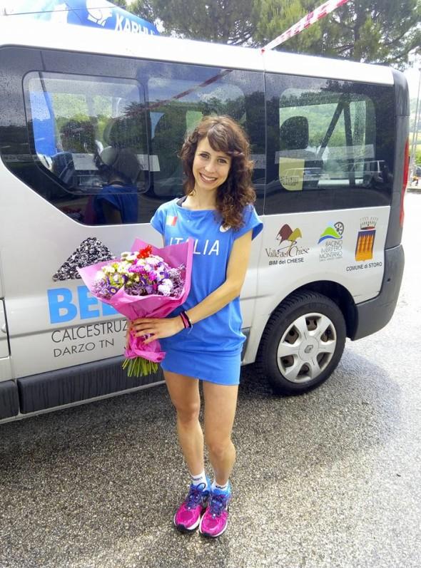 Arianna Oregioni maglia azzurra